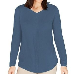 Karen Scott Women's Pullover Sweater with Cable